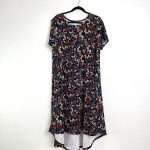 LuLaRoe Carly Multi-Color Maxi Short Sleeve Dress